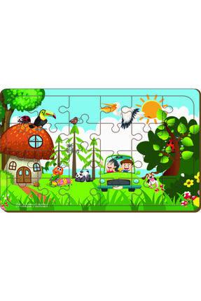 MAKETÇİNİZ 4 Adet 24 Parça Ahşap Puzzle Yapboz Set-7 4