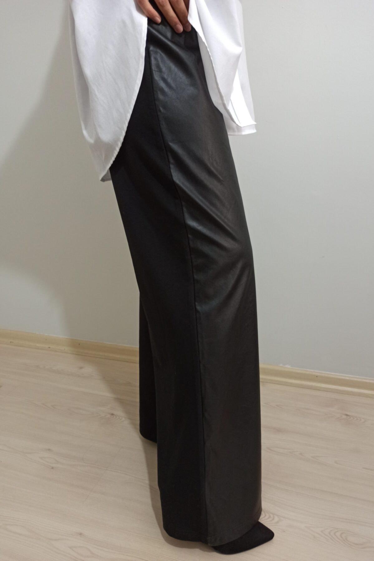 PERESTİŞ Kadın  Deri  Pantolon