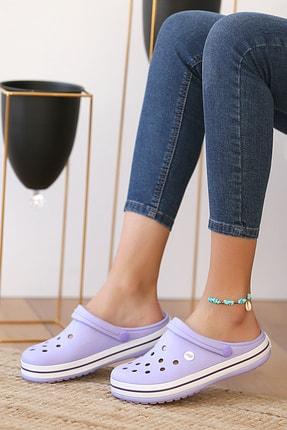 Pembe Potin Unisex Lila Sandalet 2