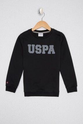 US Polo Assn Erkek Çocuk Siyah Basic Sweatshirt 0