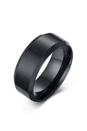 Chavin Parlak Siyah Unisex Çelik Yüzük cd74sy 0