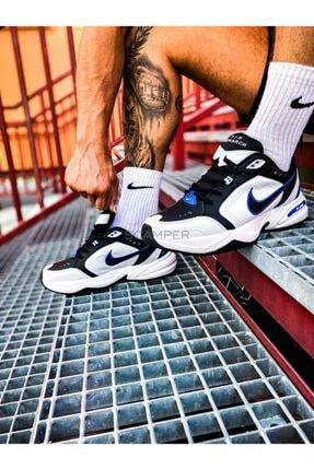 Nike Air Monarch Iv 4 Siyah Beyaz Mavi Retro Unisex Sneaker Ayakkabı 415445-002 2
