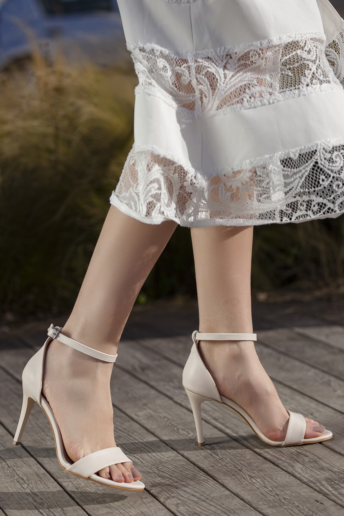 Kadın Vizon Günlük Klasik Topuklu Ayakkabı