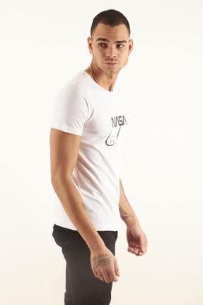 TRICKO Erkek Beyaz Baskılı T-shirt 2