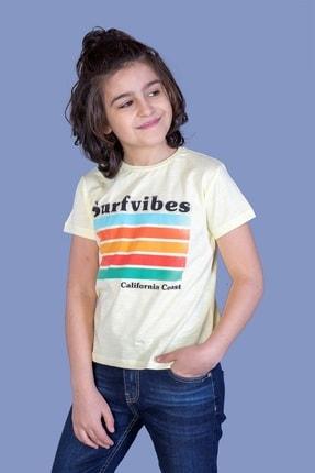 Picture of Erkek Çocuk Sarı Surfvibes Baskılı Tişört