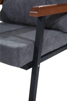 Mobilyamspot Koltuk & Kanepe Bahce Ve Balkon Koltuk - Patentli Ürün 2 1 1 Füme Gri 3