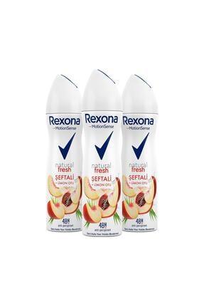 Rexona Natural Fresh Şeftali Ve Limon Otu Kadın Deodorant Sprey 150 ml x3 1
