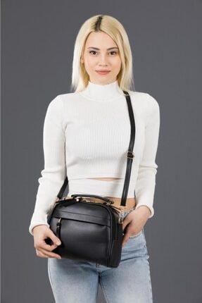Espardile Kadın Siyah Mini  Model El Ve Omuz Çantası 0