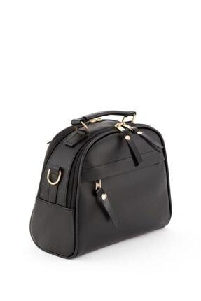 Espardile Kadın Siyah Mini  Model El Ve Omuz Çantası 2