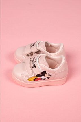 modawars Kız Çocuk Pembe Baskılı Spor Ayakkabı 883-101 2