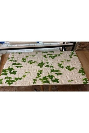 Renkli Duvarlar Nw88 Kavak Yaprağı Tuğla Yapışkanlı 8,5 Mm Duvar Kağıdı 3d Panel 1