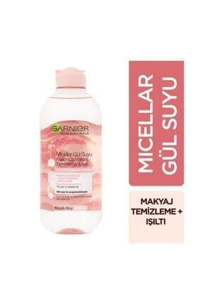 Garnier 2'li Micellar Gül Suyu Kusursuz Makyaj Temizleme & Işıltı 400 ml + Pamukluk Hediye 1