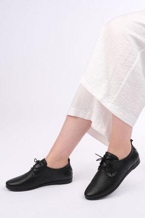Marjin Avenge Kadın Hakiki Deri Comfort Oxford Ayakkabısiyah 1