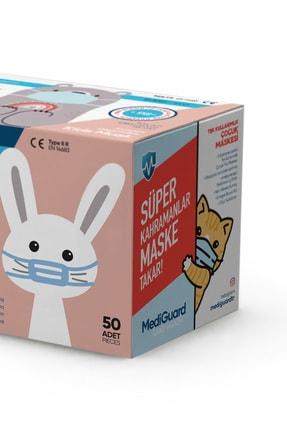 MediGuard Çocuk Beyaz Tıp2r Meltblown 3 Katlı Cerrahi Maskesi 50 Adet 3