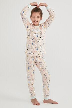 Picture of Kız Çocuk Çok Renkli  Grandma's House Termal Ls 2li Pijama Takımı