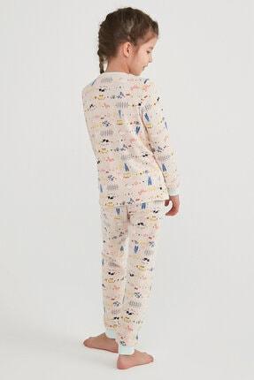 Penti Kız Çocuk Çok Renkli  Grandma's House Termal Ls 2li Pijama Takımı 3