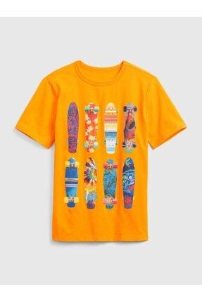 GAP Kısa Kollu Grafik T-shirt 0