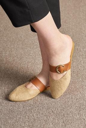 OCT Shoes Hasır Tokalı Kadın Terlik Ts1043 2