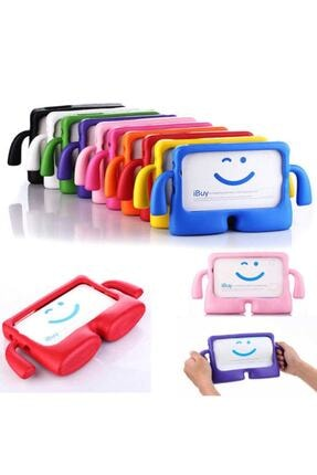 ZMOBILE Apple Ipad 7. Nesil 10.2 Inç Standlı Eğlenceli Çocuk Kılıfı Silikon Tablet Kılıfı Kids Case 1