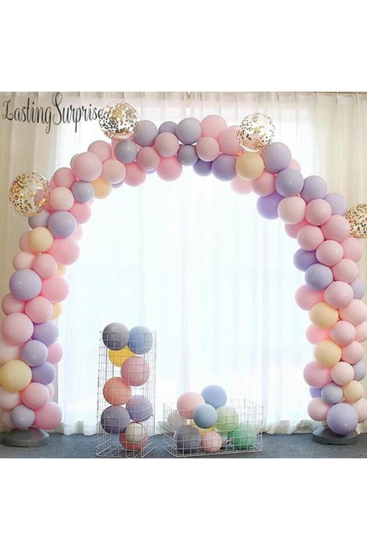 Makaron Balonlu Zincir Makaron Balon Seti 5 Mt Zincir 50 Balon Karışık