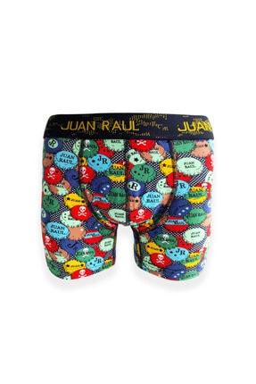 Socks Stations Renkli Desenli Boxer Kutusu 3'lü 1
