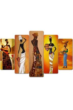 hanhomeart Afrikalı Kadınlar Parçalı Ahşap Duvar Tablo Seti 3