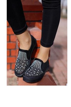 Guja Kadın Siyah Taşlı Spor Ayakkabı 1