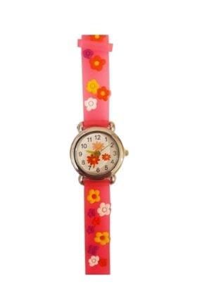 Çiçek Figürlü Kabartmalı Silikon Kayışlı Çocuk Kol Saati Çiçek-Saat-2