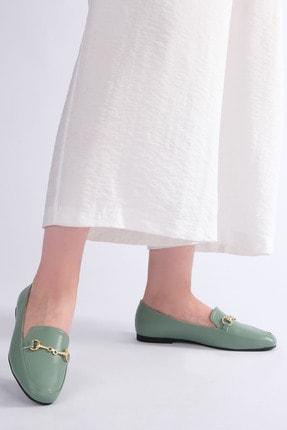 Marjin Kadın Yeşil Loafer Ayakkabı Bekla 3