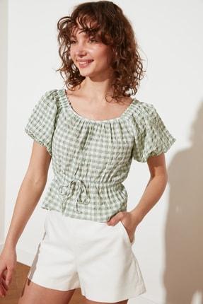 TRENDYOLMİLLA Mint Petite Bağlama Detaylı Bluz TWOSS21BZ1526 0