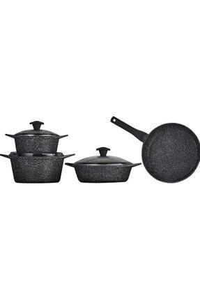 Falez Doa Cast Granit Döküm Set 7 Parça-black 0