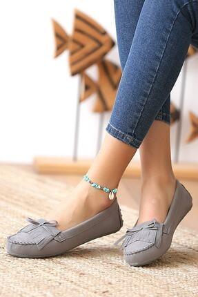 Beyond Kadın Gri Günlük Casual Sneaker Babet Ayakkabı 1
