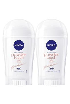Nivea Powder Touch Kadın Deodorant Stick 40 ml  2'Li 0