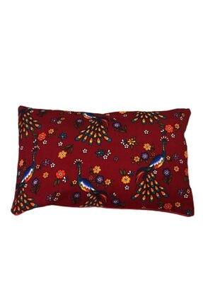 heybelioda Kırmızı Tavus Kuşu Desenli Dekoratif Kırlent Yastık Kılıfı 2