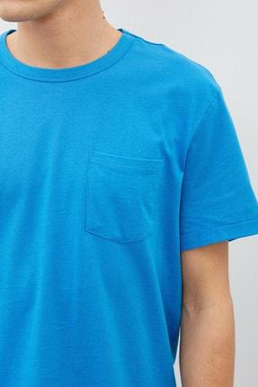 Koton Erkek Mavi T-Shirt 1Yam12317Lk 4