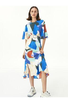 Twist Desen Geçişli Elbise 4