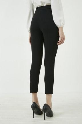 Vis a Vis Kadın Siyah Önü Biyeli Tokalı Pantolon 20KPA768K101 3
