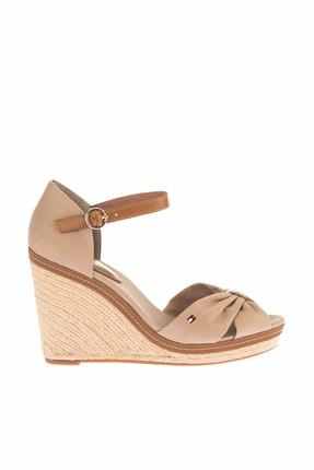 Tommy Hilfiger Kadın Gri Dolgu Topuklu Ayakkabı Iconıc Elena Sandal FW0FW00905 0