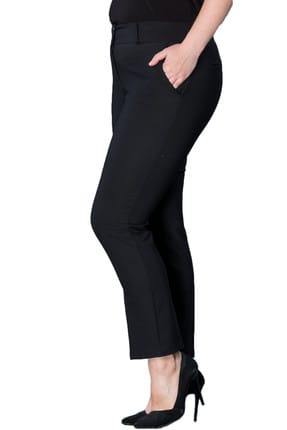 Hanezza Kadın Siyah Bilek Boy Cepli Pantolon PT2136 1