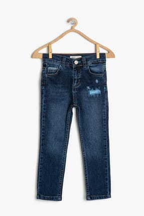 Koton Mavi Erkek Çocuk Pantolon 0