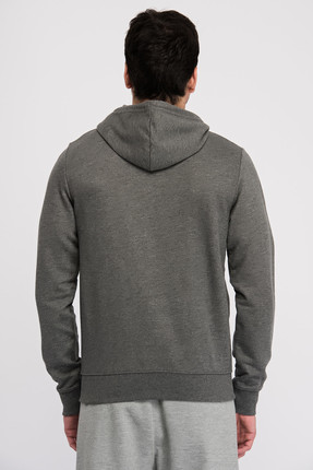 New Balance Erkek Sweatshirt - V-MTJ805-CHC 1