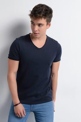 Rodi Jeans Erkek T-Shirt V Yaka Pis Dikiş Basic 0
