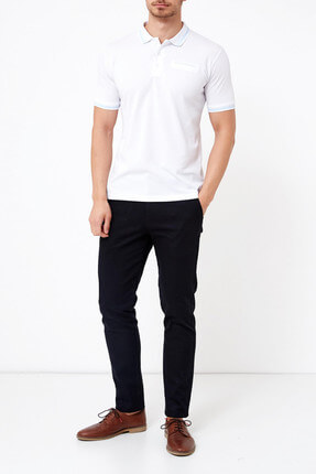 Adze Basic Düz Polo T-Shirt-33998 1