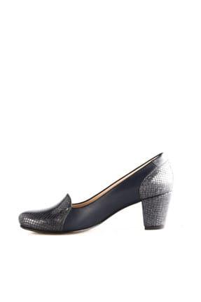 Dgn Lacivert Petek Lacivert Kadın Klasik Topuklu Ayakkabı 258-148 2