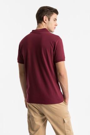 Ltb Erkek  Bordo Polo Yaka T-Shirt 012198450860890000 4