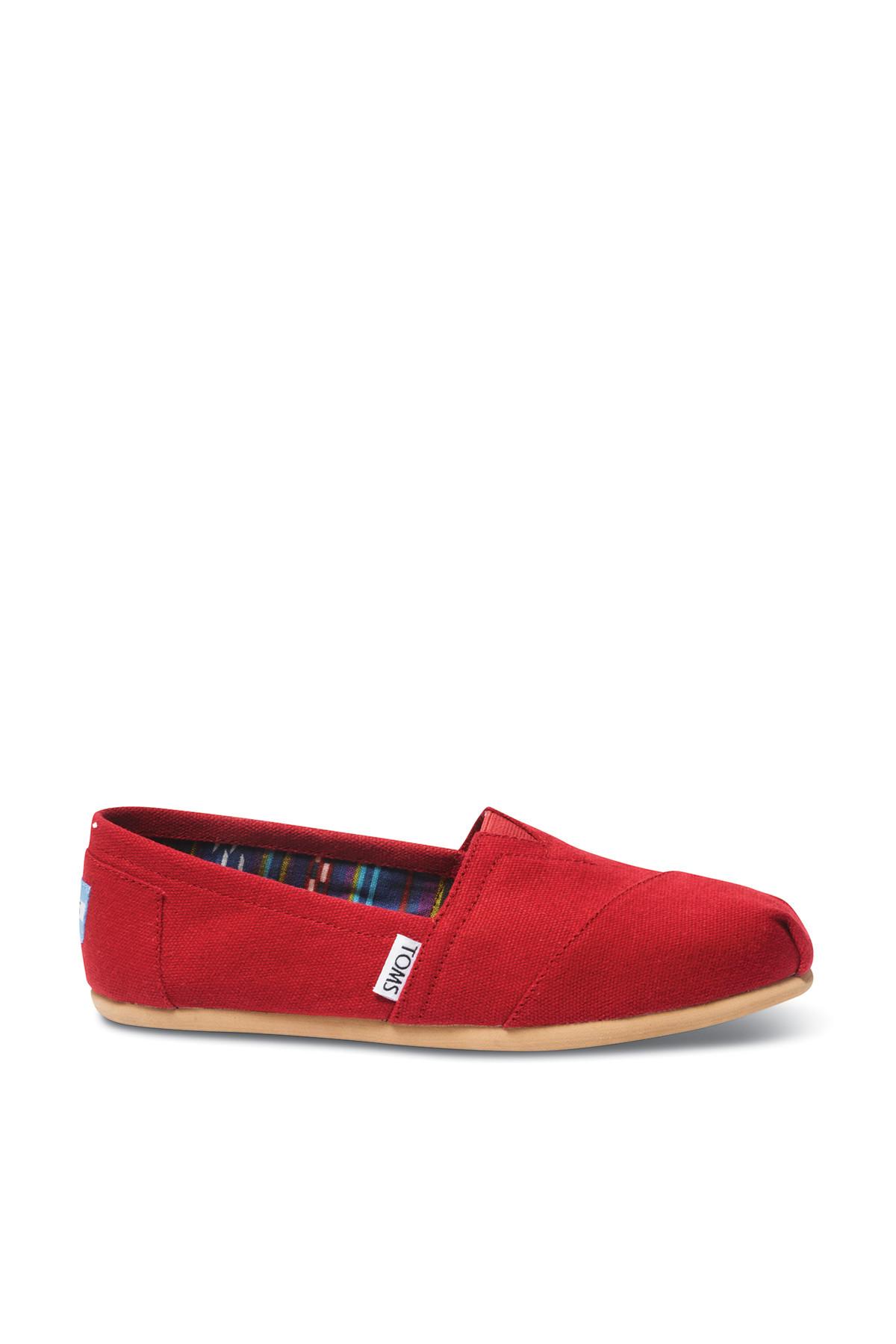 Kadın Casual Ayakkabı -Red Canvas Wm Clsc Alprg Nl