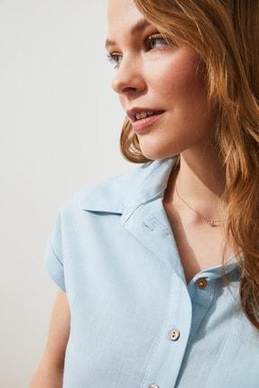 TRENDYOLMİLLA Mint Klasik Gömlek TWOAW20GO0081 4