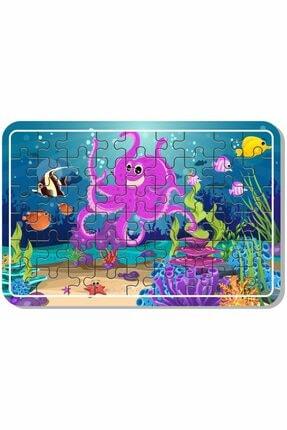 Baskı Atölyesi Çiftlik Hayvanları, Deniz, Tatil, Deniz Canlıları, Yılbaşı, Kardan Adam 54 Parça Ahşap Puzzle 2