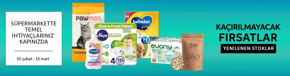 Süpermarkette Temel İhtiyaçlarınız Kapınızda   Online Satış, Outlet, Store, İndirim, Online Alışveriş, Online Shop, Online Satış Mağazası