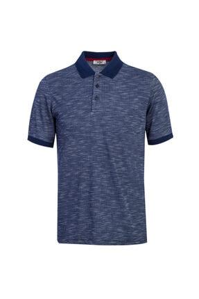 Kiğılı Polo Yaka Desenli Regular Fit Tişört 0